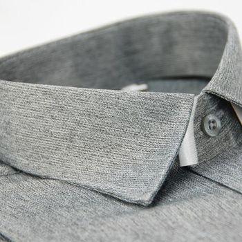 【金安德森】淺灰色毛料窄版長袖襯衫