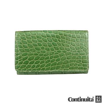 【Continuita 康堤尼】台灣手工真皮包 MIT 多功能手機套 (鱷魚綠)