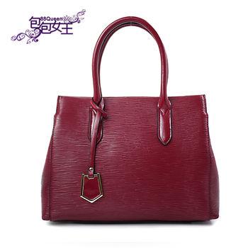 【88Queen❤包包女王】真皮★經典牛皮提包-紅色