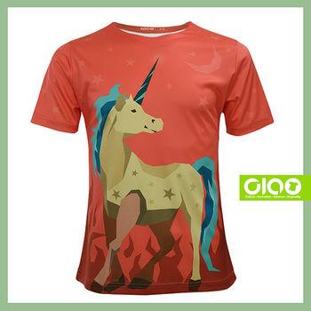 【CIAO TAIWAN】原創潮流設計T恤 Coolmax吸溼排汗/抗UV衫-獨角獸
