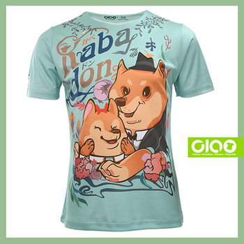 【CIAO TAIWAN】男女款 原創潮流設計T恤 Coolmax吸溼排汗/抗UV衫-壁咚柴犬