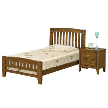 時尚屋 [G16]巴比倫3.5尺黃檀實木加大單人床G16-054-2不含床頭櫃-床墊