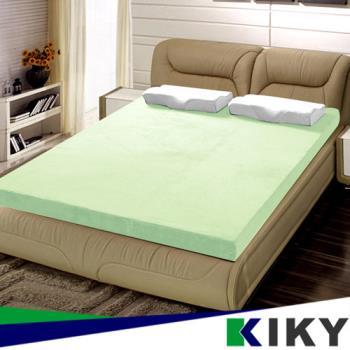 KIKY 3M防蹣抗菌-吸濕排汗暖暖單人3尺8CM記憶床墊