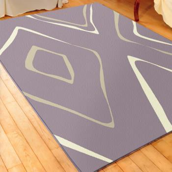 【范登伯格】艾斯立體雕花仿羊毛地毯-紫漩-160x230cm