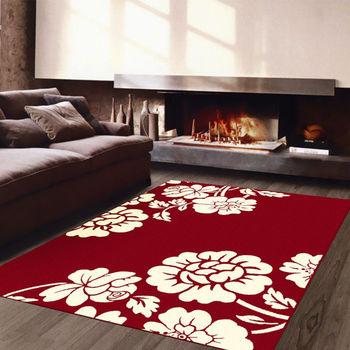 【范登伯格】阿爾發灰色魅力地毯-渲紅-140x200cm
