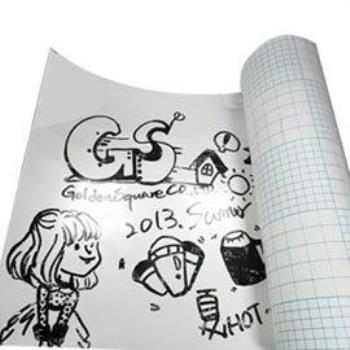 白板紙/軟白板/自黏式書寫白板/白板筆/無痕/壁貼/裝飾/塗鴉 (100x80cm)-(台灣MIT)