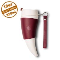 【Goat Story】Goat Mug 真皮款山羊角咖啡杯 12oz/350ml - 酒紅色