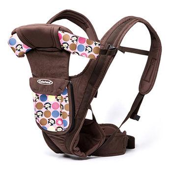 【Colorland】多功能前抱式便攜嬰兒揹帶(粉色泡泡猴)