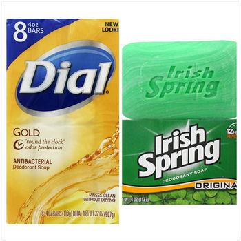 【美國 Dial 黛雅】抗菌香氛皂(4oz*8塊)/組+【美國 Irish Spring】清新體香皂(4oz/113g)*6