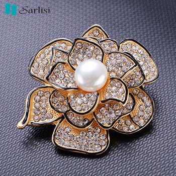 【Sarlisi】璀璨玫瑰珍珠胸針(珍珠粉、珍珠白)