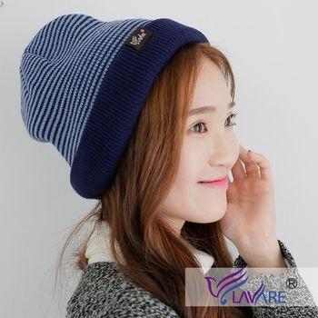 LAVARE 雙面帽 條紋 藍