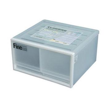 【將將好收納】單層二格抽屜整理箱(白)-20L