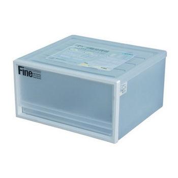 【將將好收納】單層單格抽屜整理箱(白)-20L