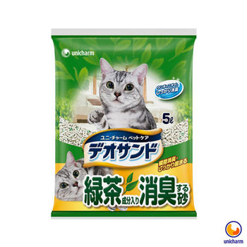 【Unicharm】日本消臭大師 消臭礦砂 綠茶香 5L X 4包入