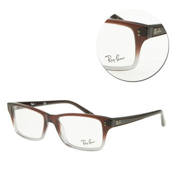 【Ray Ban】方框棕色透明光學眼鏡(RB5225-5034)