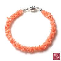 【金石工坊】天然粉珊瑚手鍊