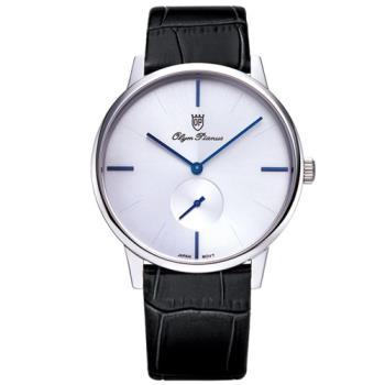 Olym Pianus奧柏表-簡約風尚小秒針時尚腕錶(睛漾白)130-13MS