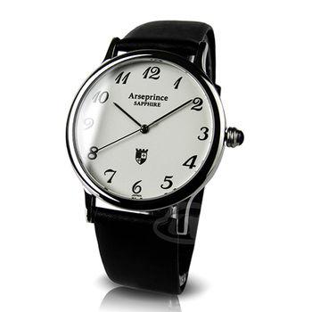 【Arseprince】熱淚銀框冷光男錶-黑色