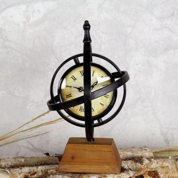 【協貿】新古典複古懷舊地球儀座鐘客廳辦公室裝飾品