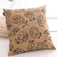 【協貿】奢華燙金工藝柔軟舒適玫瑰物語抱枕含芯