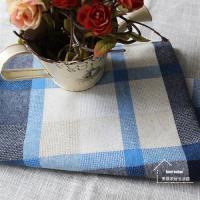 【協貿】地中海田園大格子手工棉麻彩藍布藝餐墊