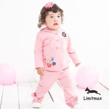 【Limitmax。米樂親子時尚】微笑羊童趣蝴蝶結褲-粉紅
