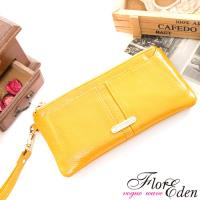 DF Flor Eden皮夾 -  真皮可拆式單拉鍊手拿長夾