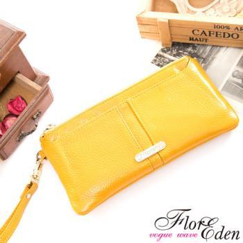 DF Flor Eden皮夾 -  俏莉漾女真皮可拆式單拉鍊長夾