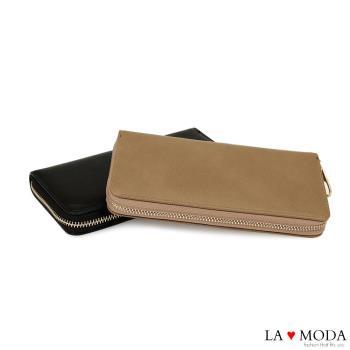 LAMODA熱賣經典品牌同款質感復古手拿皮夾長夾-行動