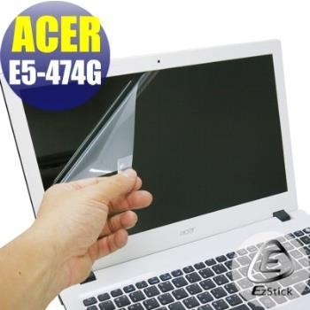 【EZstick】ACER Aspire E14 E5-474G 專用 靜電式筆電LCD液晶螢幕貼 (鏡面螢幕貼)