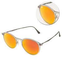 【Ray Ban雷朋】輕薄款-圓框水銀橘色太陽眼鏡(RB4224 650/6Q) LightRay