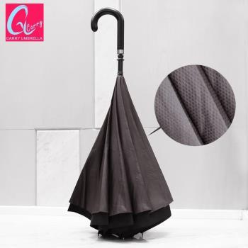 【專利正品】Carry 英倫風 時尚都會款 凱莉反向傘(不滴水)菱格灰