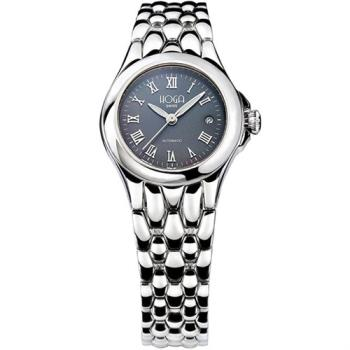 HOGA皇家后冠機械女錶-藍-白-27mm