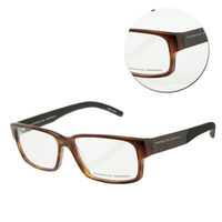 【PORSCHE DESIGN保時捷】時尚膠框咖啡色光學眼鏡(P8241-D)