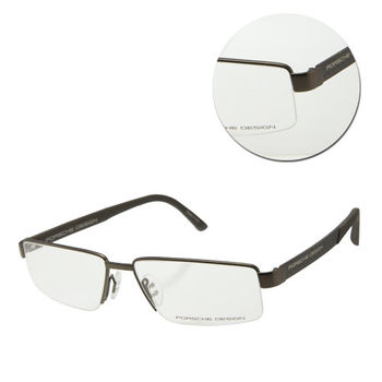 【PORSCHE DESIGN保時捷】時尚半框橄欖棕色光學眼鏡(P8224-D)