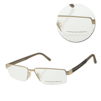 【PORSCHE DESIGN保時捷】時尚半框金色光學眼鏡(P8224-B)