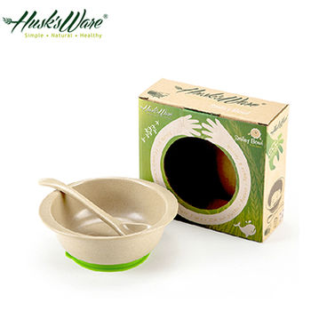 【美國Husk's ware】稻殼天然無毒環保兒童小餐碗(附小湯匙)