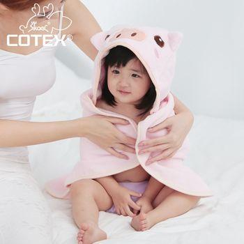 【COTEX可愛動物大浴巾】品克豬(粉紅色)