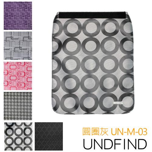 UNDFIND UN-M(中) 時尚多功能攝影包上蓋-圓圈灰 UN-M-03
