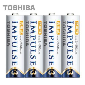 【日本製TOSHIBA】IMPULSE高容量低自放電電池(900mAh 4號4入)