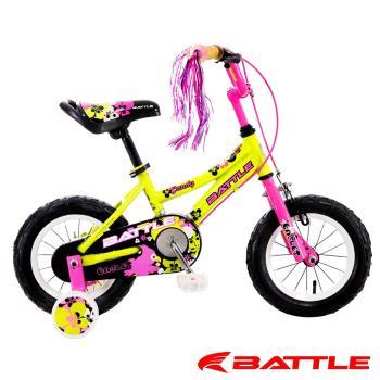 【BATTLE】Eaglets 小美鷹 12吋高碳鋼 兒童三輪車 附加輔助輪