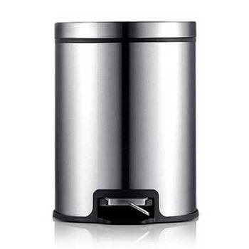 PUSH! 居家生活用品 colourful液壓緩降可固定垃圾袋垃圾桶 置物桶 12升(L)I17不鏽鋼