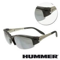 【HUMMER】半粗框銀色太陽墨鏡(ALPHA-903-SI)
