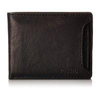 【Fossil】2016男時尚Ingram多功能黑色皮夾(預購)