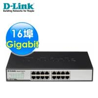 【D-Link 友訊】 DGS-1016D 16埠Gigabit節能型交換器 【加碼送環保軟毛牙刷】