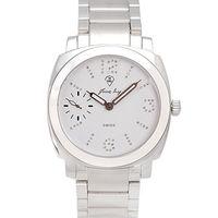 JL 漾燦機械真鑽鋼帶腕錶(白)