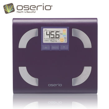 【oserio歐瑟若】時尚多彩中文體脂計 FFP-330D(紫蘿蘭)