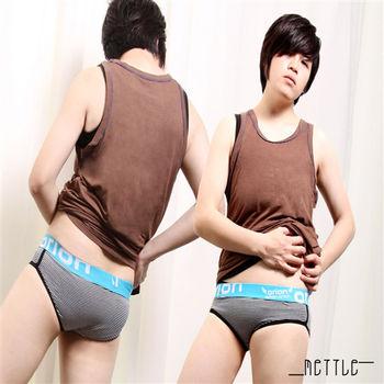 【METTLE】中性條紋三角內褲(黑白)