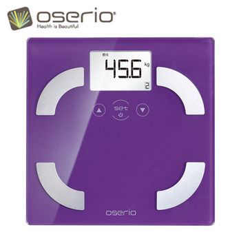 【oserio歐瑟若】時尚多彩中文體脂計 FLG-351P(神秘紫)