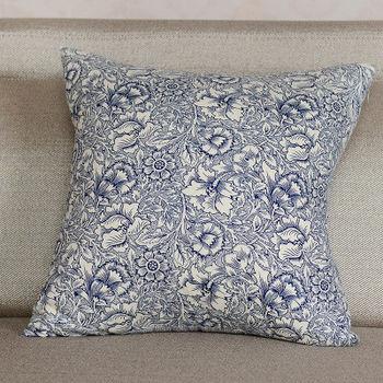 【協貿】時尚設計感百搭精緻青花瓷方形抱枕含芯